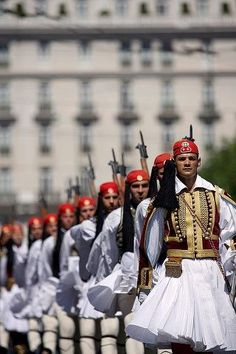 The Presidential Guard in Athens (and other views of Greece) Greek Beauty, Greek Culture, National Guard, My Heritage, Greece Travel, Greek Islands, Beautiful Islands, Beautiful Places, Albania