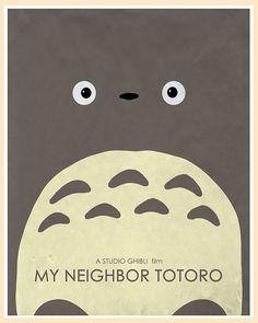 One of my favorite children's movies - Tonari no Totoro by Hayao MIYAZAKI, Japan Hayao Miyazaki, M Anime, Photo Awards, My Neighbor Totoro, Animation, Fan Art, Minimalist Poster, Sailor Moon, Nerdy