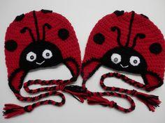 Crochet Lady Bug Animal Hat Toque Beanie Child by CatsCraftyCorner, $22.00