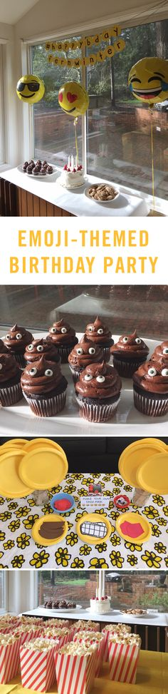 Be on trend with the ultimate emoji-themed birthday party! From emoji balloons to emoji cupcakes this party has it all! 13th Birthday Parties, 11th Birthday, Birthday Bash, Birthday Party Themes, Birthday Ideas, Birthday Emoji, Emoji Theme Party, Party Mottos, Party Fiesta