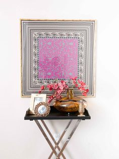 Framed scarf, tray table