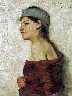 """""""Cyganka"""" by Olga Boznanska (1888)"""