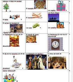 Vocabulario ilustrado de Navidad (va con el texto -Felices fiestas-)