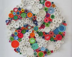 Modern wall art Rolled paper art Bright by LaurieBrownFineArt
