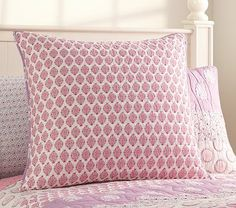A showstopping design, this heirloom-inspired quilt brings bright color, rich texture and a medley of woodblock prints to the top of the bed. The strip-pieced quilt is sewn of soft cotton voile with plenty of batting for a plush look and feel. Girls Room Paint, Rug, Quilt Bedding, Pottery Barn Kids, Bedding Collections, Bed Pillows, Kids Room, Plush, Quilts