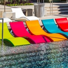 Aqua Commercial Sling Chaise Lounge by Leisure Creations