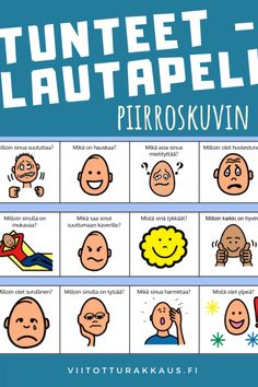 Tunteet -lautapeli - Viitottu Rakkaus Finnish Language, Les Sentiments, Early Childhood Education, Occupational Therapy, Crafts For Kids, Teacher, Feelings, Learning, School