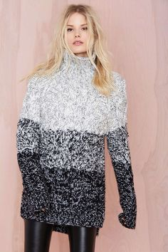 Glamorous Grayed Out Sweater Tunic. It's all about ombré.