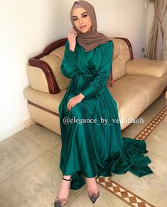 Muslim Prom Dress, Muslim Wedding Dresses, Muslim Hijab, Dress Wedding, Abaya Fashion, Muslim Fashion, Modest Fashion, Hijab Dress Party, Prom Party Dresses