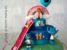 La buona cucina di Katty: Torta: Lo straordinario mondo di Gumball - The Amazing World of Gumball cake -