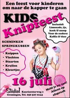 Flyer voor een knipfeest voor kinderen Lemonade