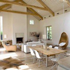 20 Best Open Plan Kitchen Living Room Design Ideas - Home Decoraiton Kitchen Living, Home Living Room, Living Area, Living Room Designs, Living Spaces, Barn Living, Open Space Living, Open Spaces, Style At Home