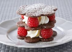 Chocolate Shortbread and Raspberry Napoleons-Anna Olson
