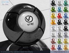 Vray Plastic Materials 3D Модель .max .c4d .obj .3ds .fbx .lwo .stl @3DExport.com by ARHIGREGDESIGN