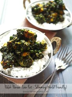 This Slimming World Palak Paneer recipe is the perfect fake-away. Low fat, vegetarian, quick to make and low in syns. It& a family favourite here. Quick Dinner Recipes, Vegetarian Recipes Easy, Healthy Eating Recipes, Indian Food Recipes, Indian Foods, Healthy Meals, Healthy Food, Paneer Recipes, Curry Recipes
