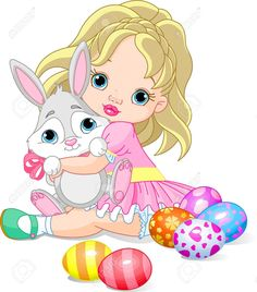 little girl and easter bunny. Cute little girl hugging easter bunny. Easter Calendar, Easter Symbols, Happy Easter Banner, Sheep Vector, Easter Wallpaper, Easter Backgrounds, Funny Rabbit, Cute Easter Bunny, Easter Greeting Cards