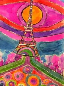 Waitsfield Elementary Art: Famous World Landmarks in the style of Friedensreich Hundertwasser