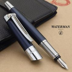 Stationary shop PenLife: Waterman Harley-Davidson and コンバスション Matt Black fountain pen medium (in character) has become a minority in stock this time Waterman Fountain Pen, Waterman Pens, Fountain Pen Ink, Stylo Plume Waterman, Stylo Art, Stationary Shop, Graf Von Faber Castell, Luxury Pens, Fine Pens