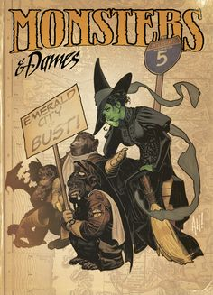 Elphaba by Adam Hughes via Deviantart. Love what he does with facial expression and body language.