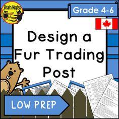 Design a Fur Trading Post Historical Thinking Activity School Jobs, School Plan, School Ideas, Social Studies Activities, Teaching Social Studies, Engage In Learning, Teacher Boards, Fur Trade, Canadian History