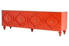 "Marrakesh 96"" Credenza, Tangerine"