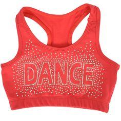 8a1c2736d5 Girl s Racerback Sports Bra Dance in Rhinestone
