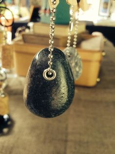 Beach pebble from Wales, turned into a key ring designed by AudreyJDesigns