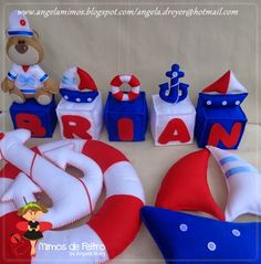Mimos de Feltro by Angela Mary: ==Decoração de festa marinheiro em feltro