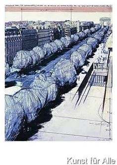 Christo und Jeanne-Claude - Wrapped Trees, Paris 1969