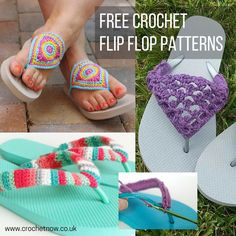 A selection of free crochet flip flop patterns - easy enough for beginners, crochet a pair of flip flops today!