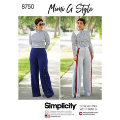 d3a51859a26 Simplicity 8750 Misses  Mimi G Style Top and Wide-Leg Pants