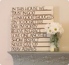 Slatted Sayings Wall Art