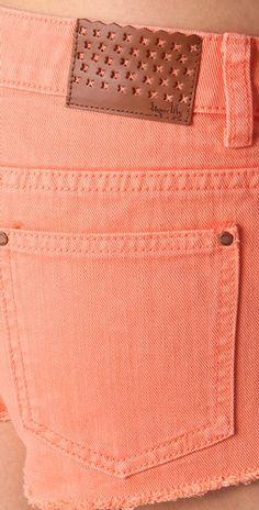 want these in jeans Peach Love, Peach Blush, Just Peachy, Peach Delight, Peach Shorts, Color Of The Week, Shades Of Peach, Peach Trees, Orange Crush