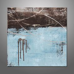 Original Acrylic Abstract Canvas Painting  Modern by HWinfield, $145.00