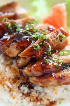 Baked Teriyaki Chicken - A much requested chicken recipe! Easy to double for a large group. Tonight's dinner - Nat even likes it Asian Recipes, New Recipes, Yummy Recipes, Cooking Recipes, Healthy Recipes, Dinner Recipes, Recipies, Low Calorie Chicken Recipes, Breakfast Recipes