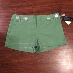 Cute green shorts Green shorts, tags still on, size 9 Shorts