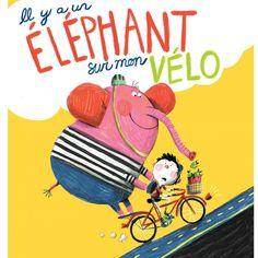 Il est trop lourd!! #illustration #kidlitart #artistsoninstagram #childrensbookillustration #brightartists #elephant #bicycle #velo #cycling #kidsbicycle
