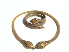 1940s serpent choker necklace & bracelet.