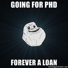 already got a good start with B.S. and heading into grad school...yay for debt! =/
