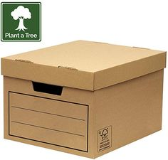 Bankers Box Corrugated Cardboard Storage Box/Archive Box for General Use (W x H x D) 32 x 25 x 39 cm (Pack of - brown Tapas, Cardboard Storage, Toy Chest, Improve Yourself, Packing, Archive, Boxes, Amazon, Products