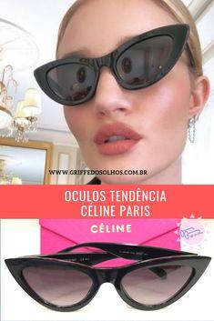 893f7e308 Óculos Celine Paris disponível nas cores preta e marrom. Apenas R$120,00  parcela