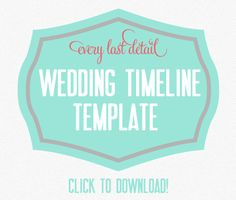 downloadable wedding timeline template