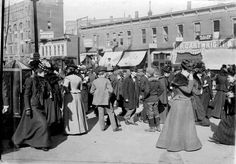 This photo, published in the Omaha Bee News, shows the crowded streets of downtown Omaha in the early 1900s. THE WORLD-HERALD