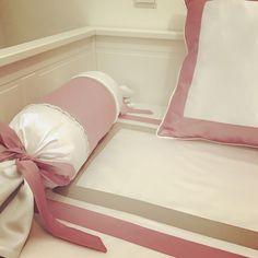 Colcha para quarto menina rosa e cor toupeira . Girls room