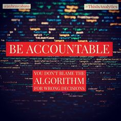 Let us all be accountable for our decisions. Data and Analytics are not another options to choose to point blame for wrong decisions made.  Do you agree? #👍 or #👎 Leave a comment below or tag a friend to share the message to everyone. 👉👉Follow @jaybraycabana and #thisisanalytics for more posts about #analytics, #DigitalMarketing, #BusinessStrategy Decision Making, Blame, Digital Marketing, Messages, Posts, Let It Be, Making Decisions, Text Posts