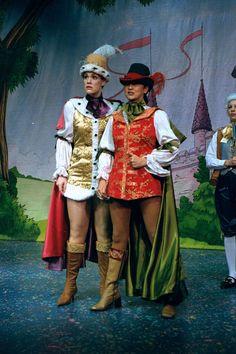 Gemma Morsley as Prince Charming and Colleen Daley as Dandini    Cinderella - Loughborough - 2004/5