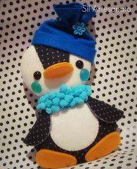 Felt penguin christmas