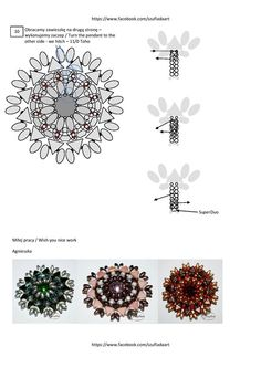 4. Beaded Jewelry Patterns, Beading Patterns, Wire Wrapping, Handmade Jewelry, Wraps, Super Duo, Pendants, Type 3, Earrings