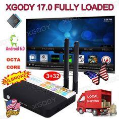 XGODY 3+32G Octa Core Smart TV BOX S912 Android 6.0 Newest 17.0 Fully Loaded 4K #ad