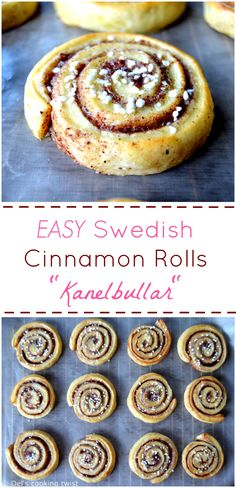 BEST ever Cinnamon Rolls. Step by step recipe for beginners on the blog. They are so EASY to bake! | Del's cooking twist